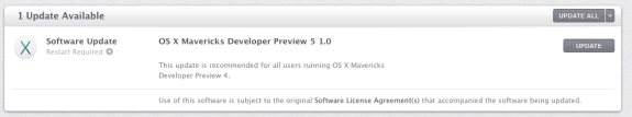 The OS X Mavericks Developer Preview 5 release is here.