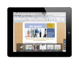 Parallels Access - Word document with App Switcher