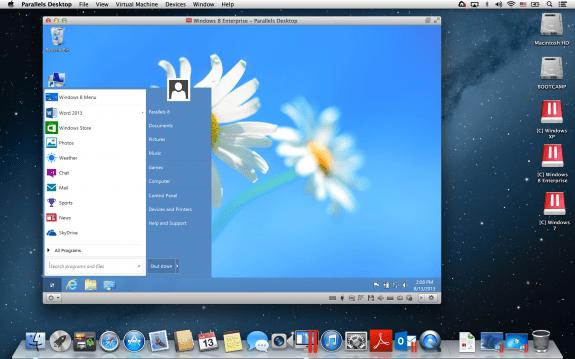 Parallels Desktop 9 for Mac - Windows 8 Start Menu
