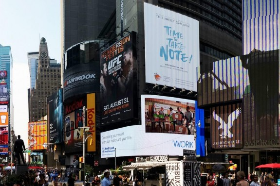 The first Samsung Galaxy Note 3 hands on experience could arrive in Time's Square on September 4th.