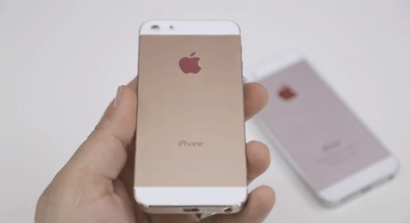 Once again we see the gold iPhone 5S on camera.