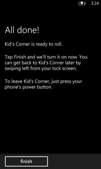 how to turn on kids corner on windows phone 8 (9)