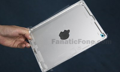 An iPad 5 back plate supposedly leaked from the Apple supply chain.