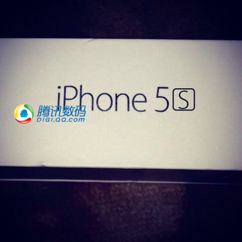 Side of a likely fake iPhone 5S box that shows iPhone 5S branding.