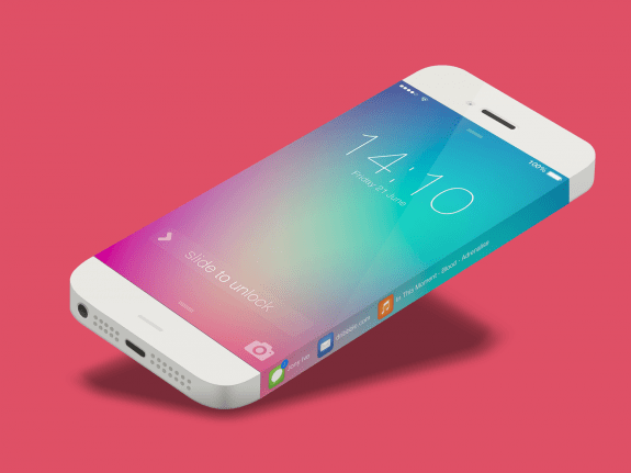 This iPhone 6 concept uses the endless display to show app notifications. Michael Shanks