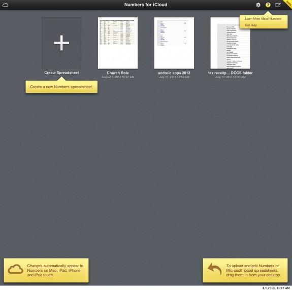 icloud beta numbers help tooltips