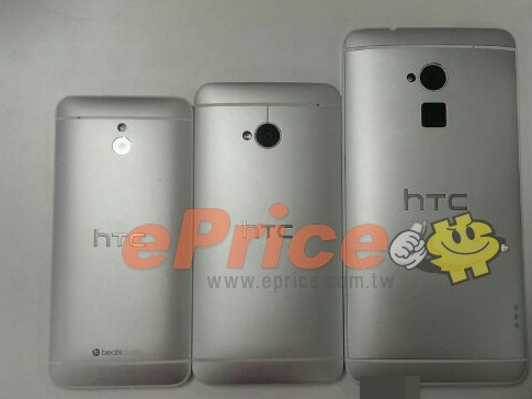 The HTC One mini vs. HTC One vs. HTC One Max.