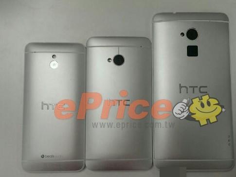 The HTC One mini vs. HTC One vs. HTC One Max.