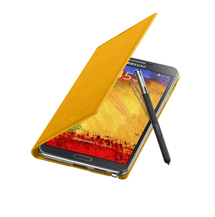 Galaxy Note3 FlipCover_004_Open Pen_Mustard Yellow