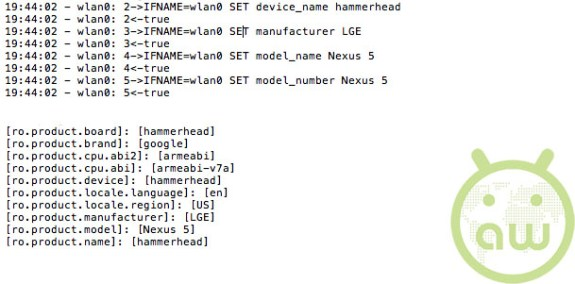 Nexus 5 log files have cracked the case wide open.