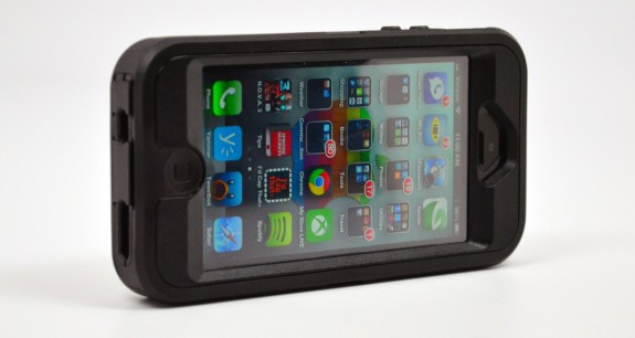 This Otterbox iPhone 5 case will not work fully as an iPhone 5S case.