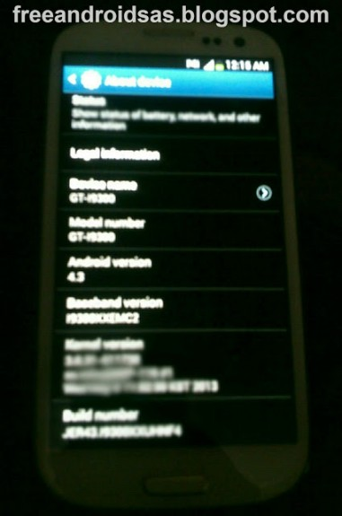 The Samsung Galaxy S3 Android 4.3 Jelly Bean update is likely in October.