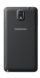 The Galaxy Note 3 uses a faux leather back.