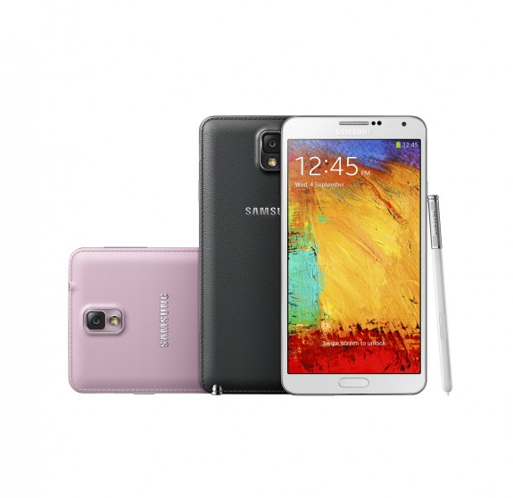The Samsung Galaxy Note 3 will hit five U.S. carriers.