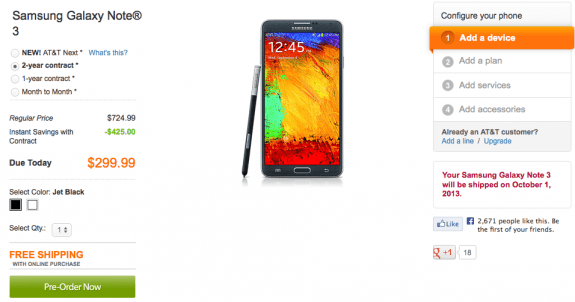 Don't feel the need to pre-order the Galaxy Note 3 ahead of its release.