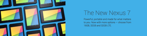 Google now offers three Nexus 7 variants.