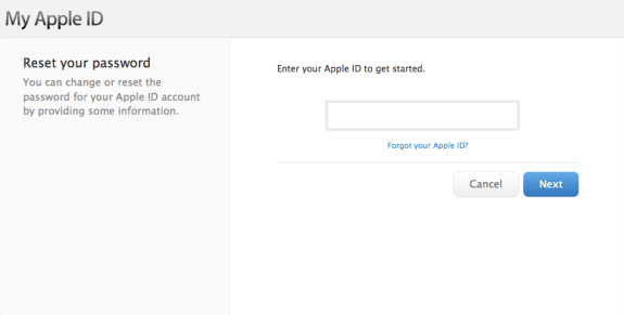 Retrieve your Apple ID before installing iOS 7.