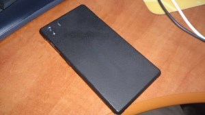 Leaked image of the Sony Xperia Z1 shows off unibody metal back.