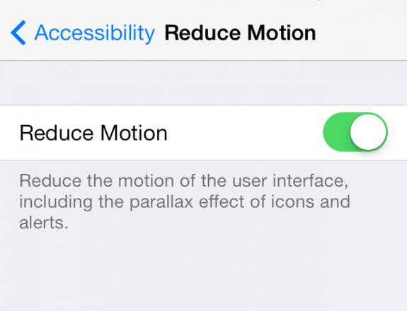 How to Turn Off iOS 7′s Parallax Effect