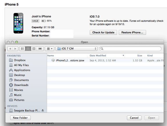 This step will upgrade you to the official iOS 7 release version.