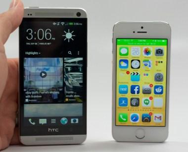 The Verizon HTC One vs. iPhone 5s.