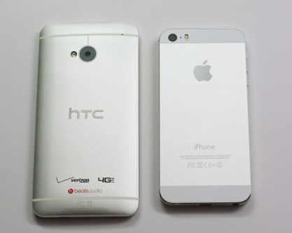 Verizon HTC One vs. iPhone 5s.