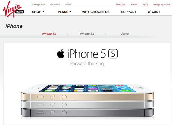 The Virgin Mobile iPhone 5s release date is set for October 1st, but pricing is not yet official.