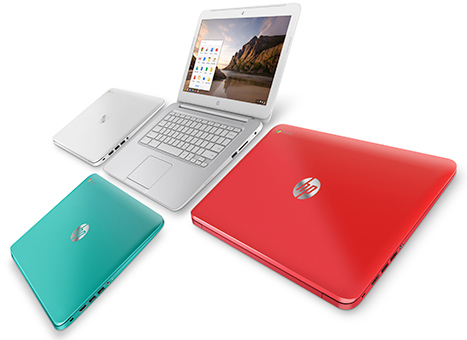 HP's new Chromebook runs Google's Chrome OS.