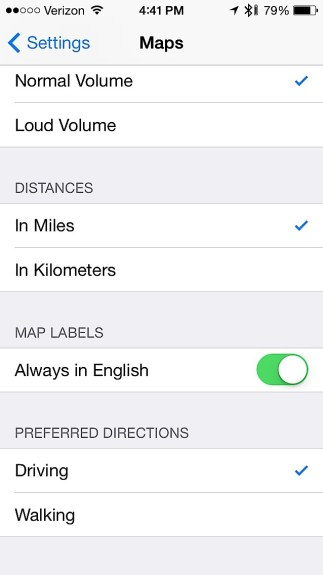 Get walking directions by default in iOS 7.