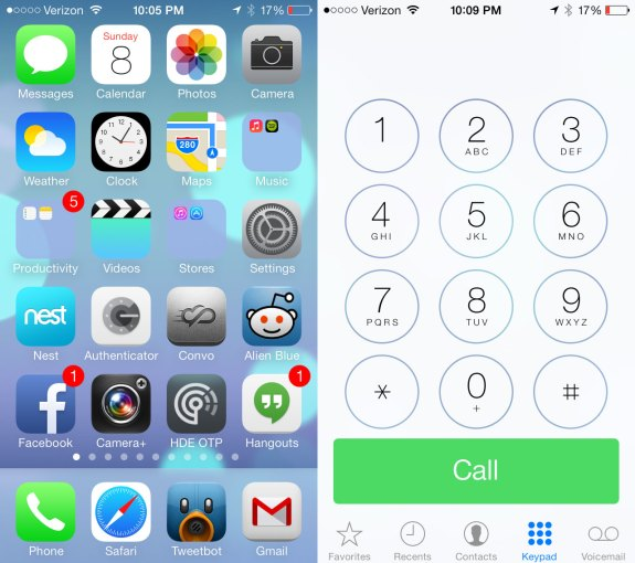 The overall look of iOS 7 is completely new. This will be a surprise to some users, and could cause some confusion.