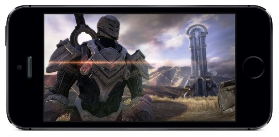 Infinity Blade 3 arrives with the iPhone 5S, taking advantage of the improved graphics performance.