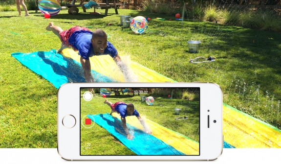 Take slow motion video on the iPhone 5S.