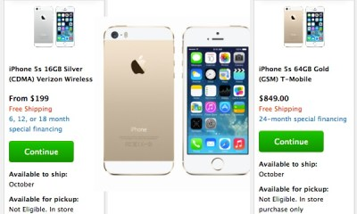 Apple no longer allows users to check to see if the iPhone 5s is in stock at a local Apple Store.