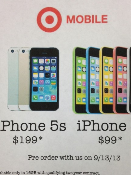 Target calls it an iPhone 5s pre-order, but it's really a reservation.