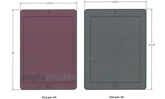 These alleged iPad 5 schematics point to a new design.