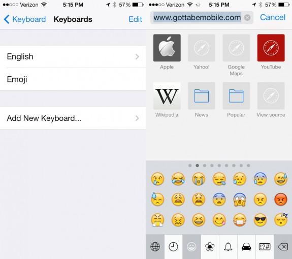 Express yourself with an emoji keyboard.