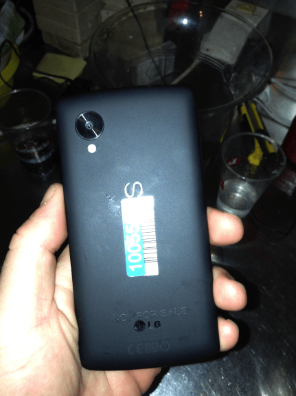 This could show the back of the Nexus 5.