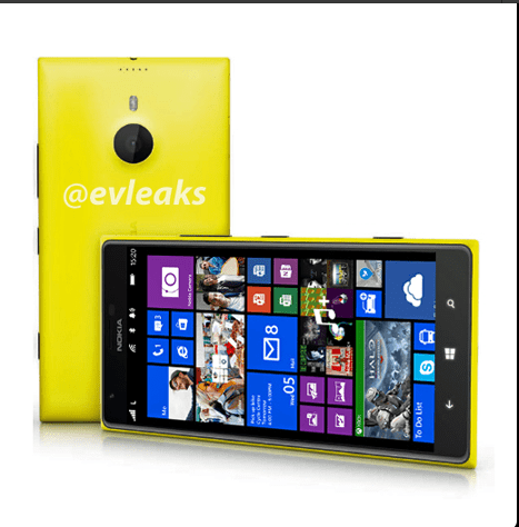 A leaked render of the Nokia Lumia 1520