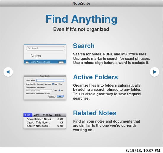 notesuite find anything