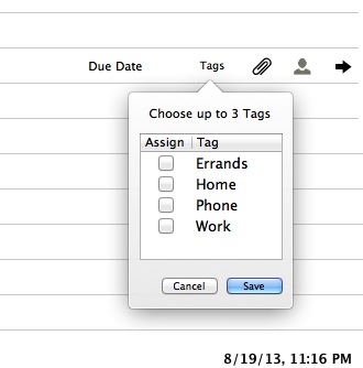 notesuite tags