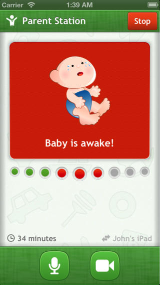 baby monitor 3g on iPhone