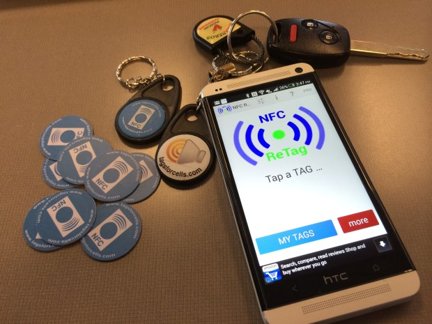 NFC ReTag Pro with LifeProof PVC Tags