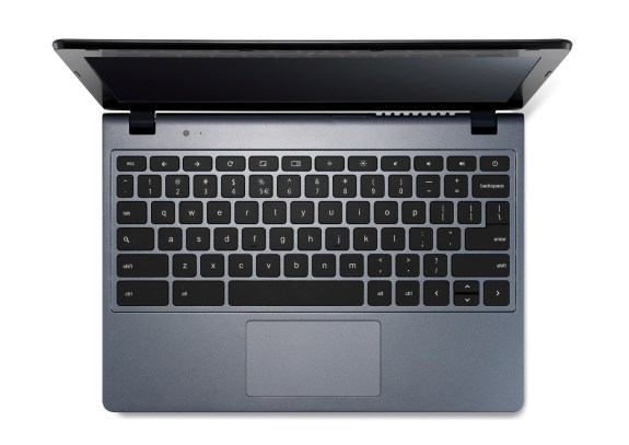 Acer Chromebook previewed at IDF keyboard