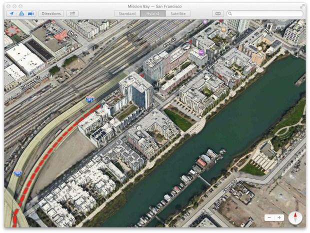 Use Apple Maps in OS X Mavericks.