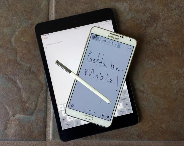 Galaxy Note 3 vs iPad mini 2-5
