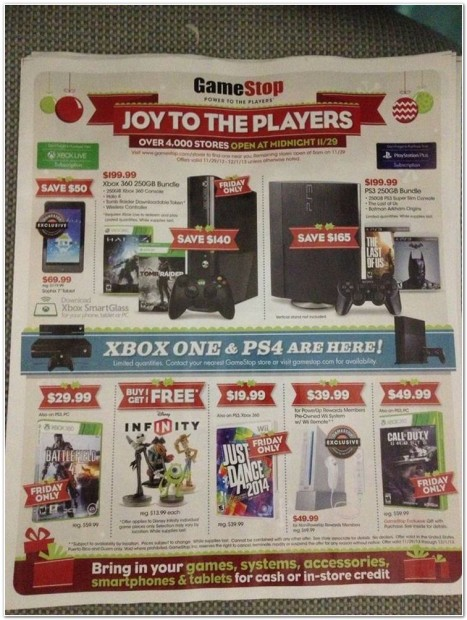 The Cover of GameStop's Black Friday ad.