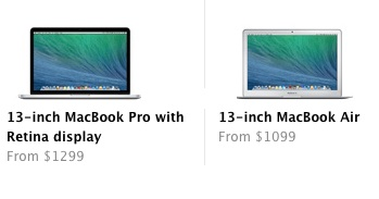 MacBook Pro Retina vs Macbook Air 2013