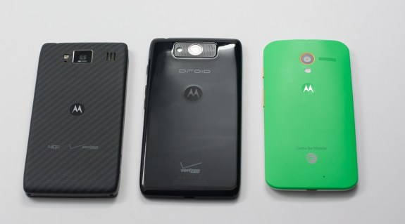 Motorola's material choice feels much better than the plastic on the Droid Ultra and the Galaxy S4.