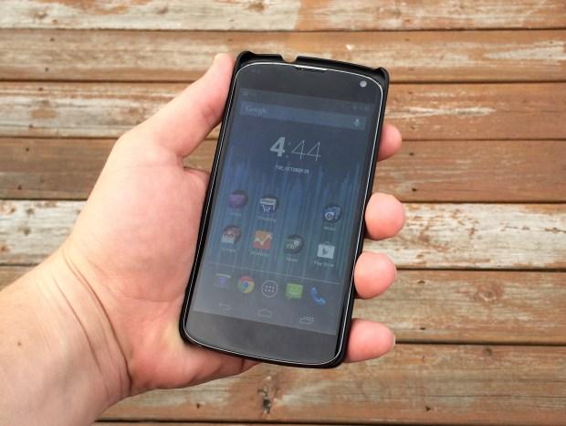 Nexus 4 inside a Nexus 5 case.