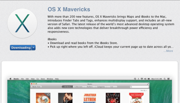 Download the OS X Mavericks update.